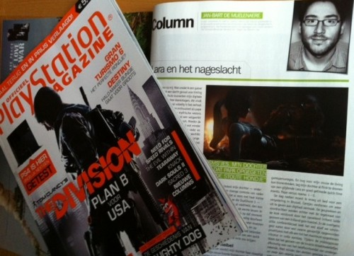 Column Playstation Magazine - Jan-Bart De Muelenaere