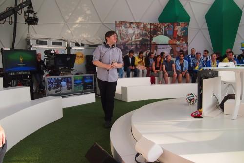 Jan-Bart De Muelenaere Publieksopwarmer WK2014 Diabo op Canvas