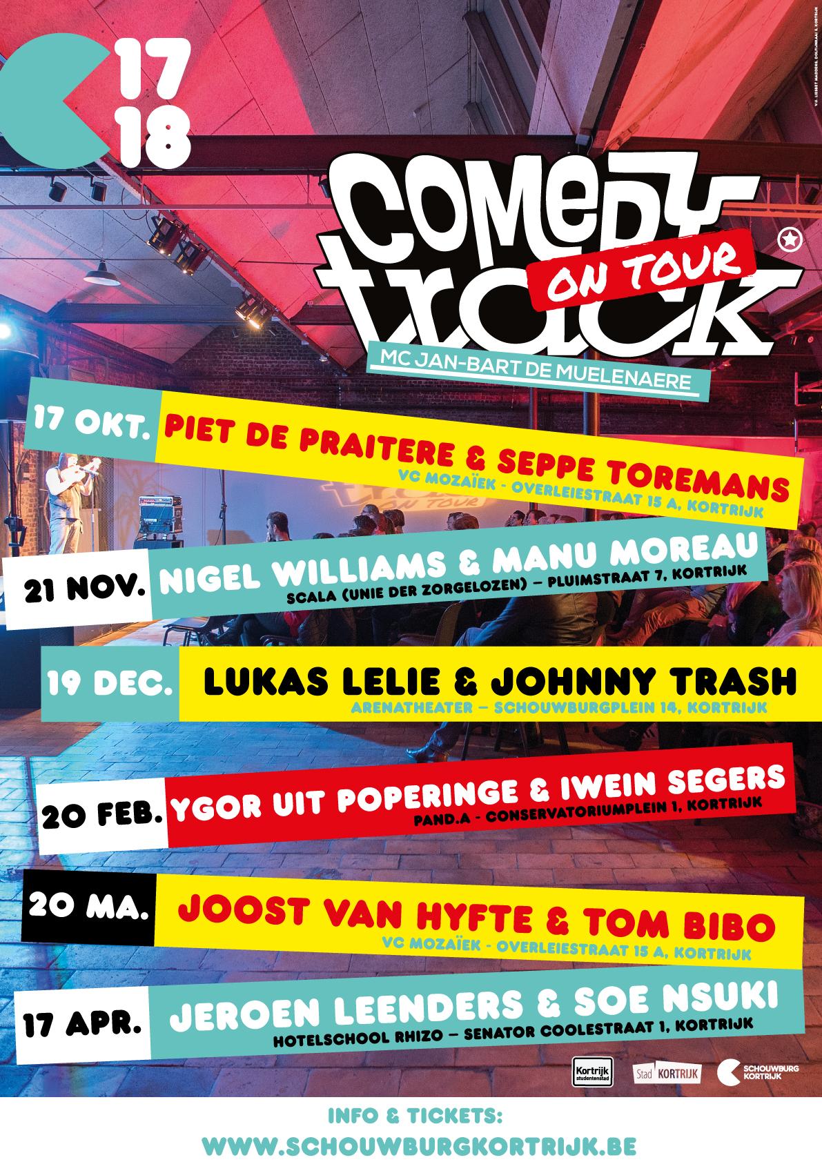 comedytrack seizoen 2 - 2017-2018